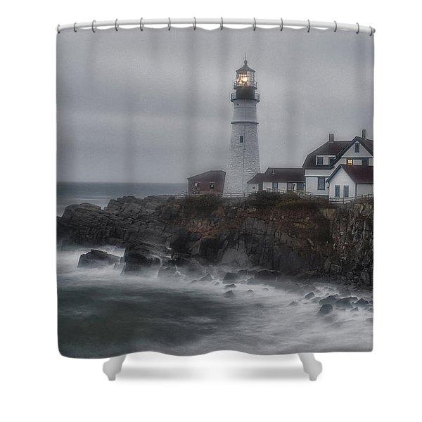 Portland Head Nor'easter Shower Curtain