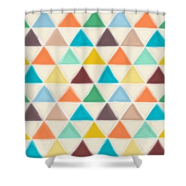 Portland Triangles Shower Curtain
