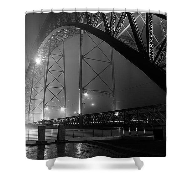Porto @ Night Fog Shower Curtain