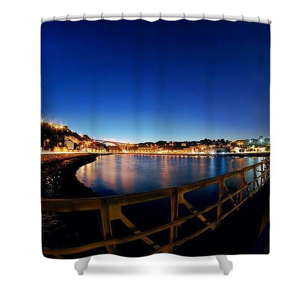 Porto By Night. Shower Curtain