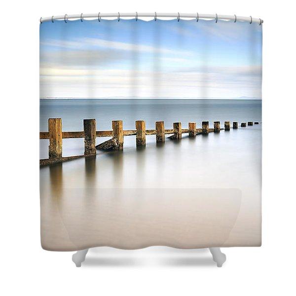 Portobello Groynes Shower Curtain
