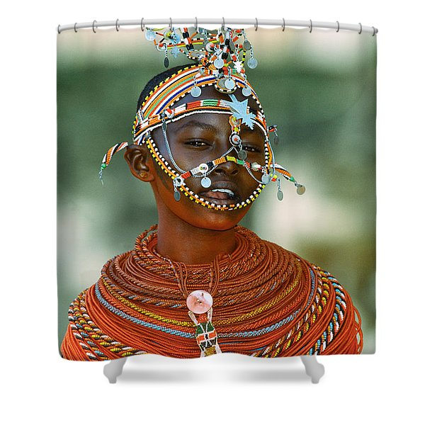 Portrait Of A Teenage Girl Smiling Shower Curtain
