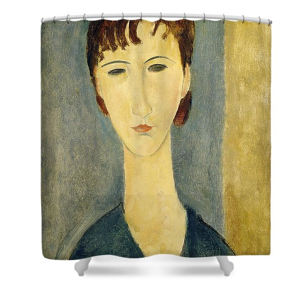 Portrait Of A Young Woman, C.1918 Shower Curtain