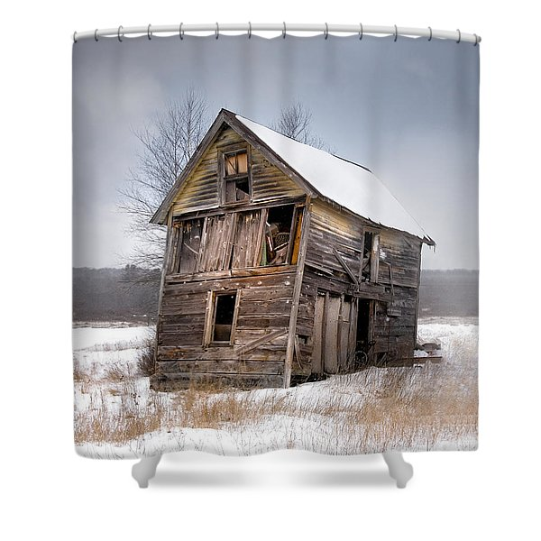 Portrait Of An Old Shack - Agriculural Buildings And Barns Shower Curtain