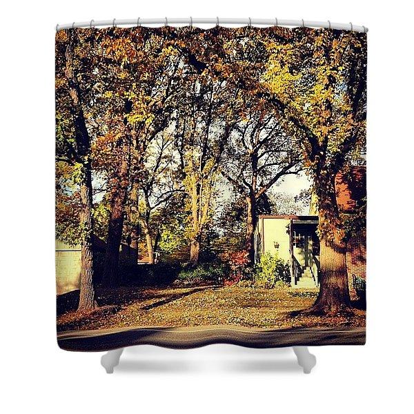 Portrait Of Autumn Shower Curtain