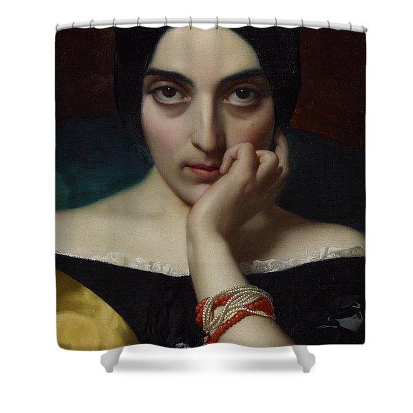 Portrait Of Clementine Shower Curtain