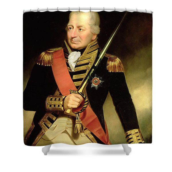 Portrait Of John Jervis First Earl Shower Curtain