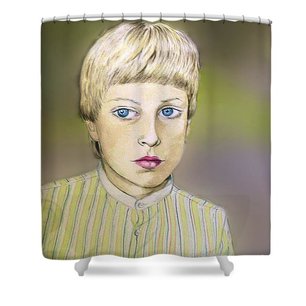 Portrait Of Justin Age 9 Shower Curtain