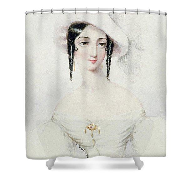 Portrait Of Lola Montez Shower Curtain