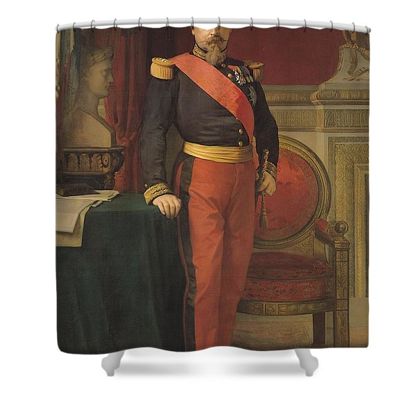 Portrait Of Napoleon IIi 1808-73 1862 Oil On Canvas Shower Curtain