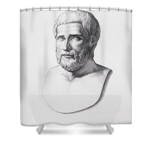 Portrait Of Pythagoras Shower Curtain