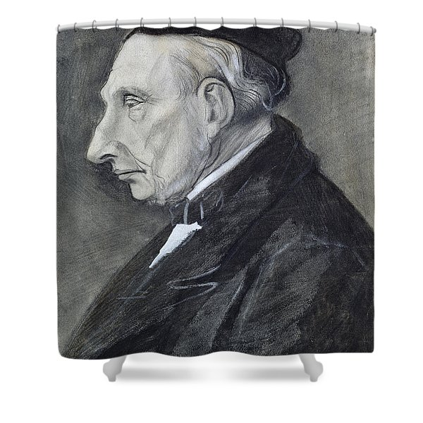Portrait Of The Artists Grandfather Shower Curtain
