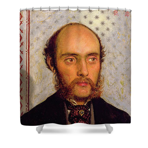 Portrait Of William Michael Rossetti 1829-1919 By Lamplight, 1856 Panel Shower Curtain