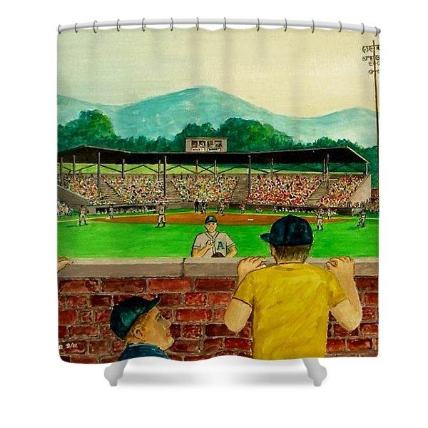 Portsmouth Athletics Vs Muncie Reds 1948 Shower Curtain