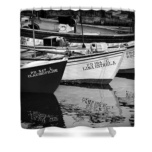 Portuguese Fishing Boats Shower Curtain