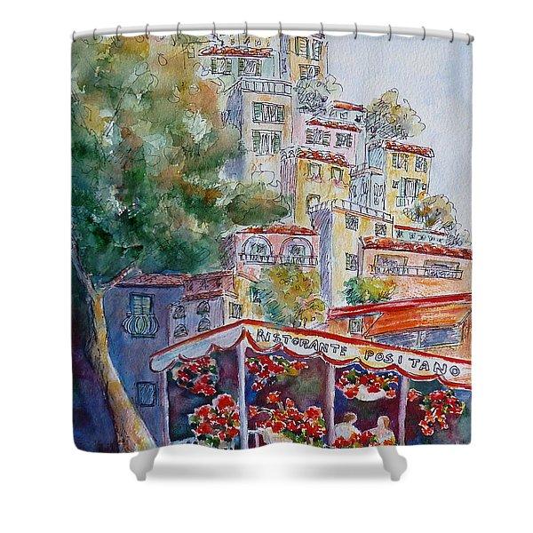 Positano Restaurant Shower Curtain