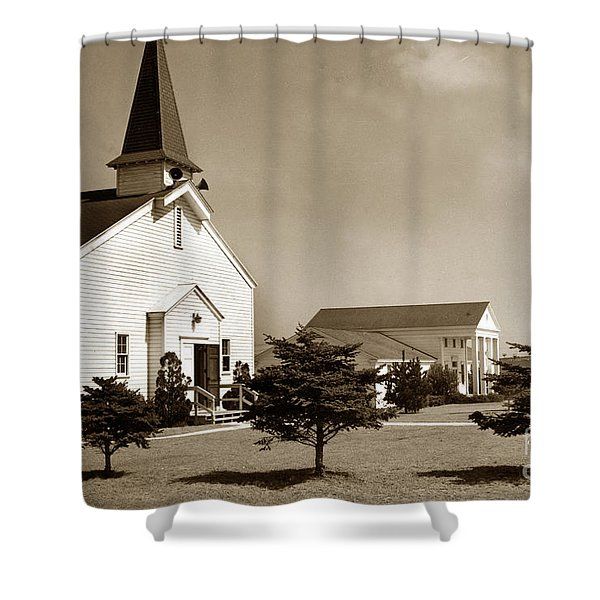 Post Chapel And Red Cross Building Fort Ord Army Base California 1950 Shower Curtain
