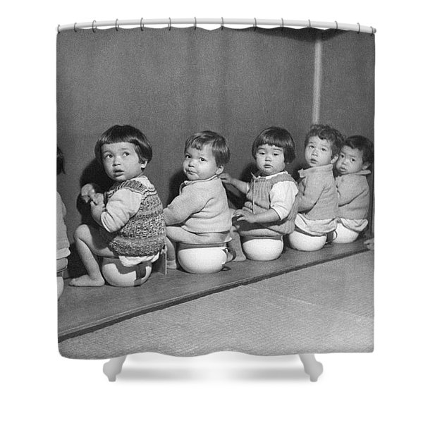 Post-war Japanese Orphanage Shower Curtain