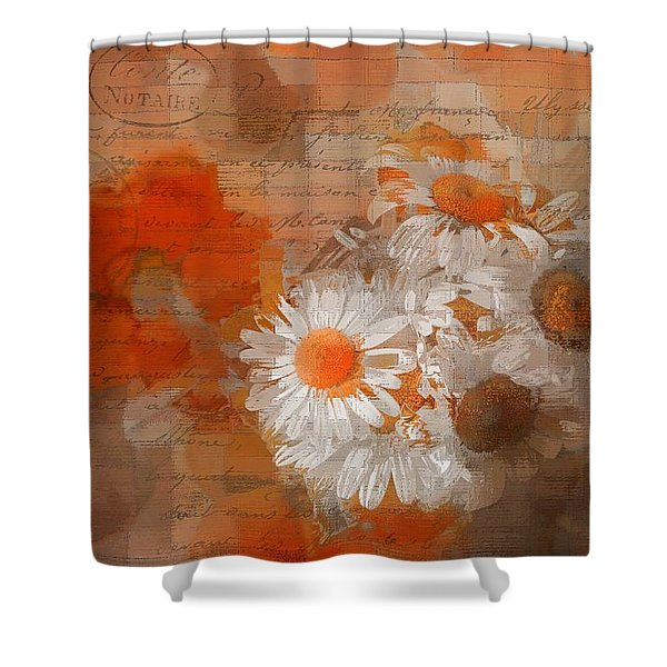 Pot Of Daisies 02 - J33027100rgn1c Shower Curtain
