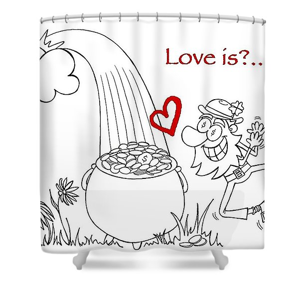 Pot Of Gold Valentines  Shower Curtain