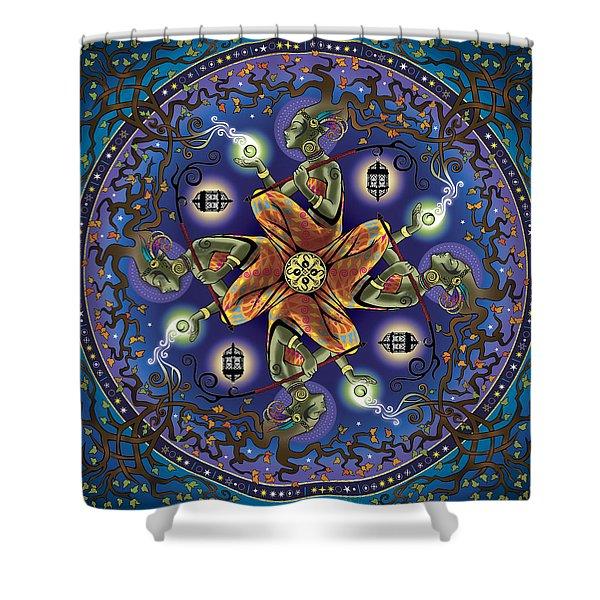 Potential Mandala Shower Curtain