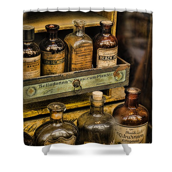 Potions And Cure Alls Shower Curtain