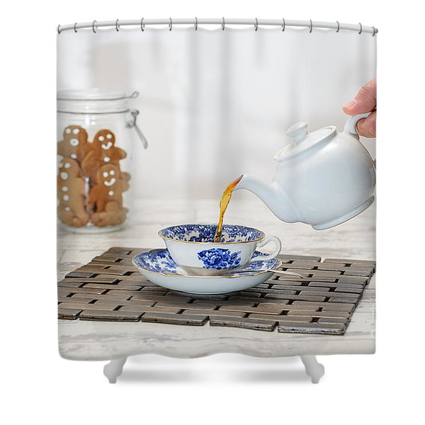 Pouring A Cup Of Tea Shower Curtain