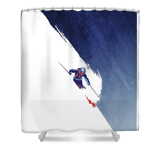 Shower Curtain featuring the painting Powder To The People by Sassan Filsoof