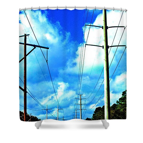 Power To The Infinity Shower Curtain