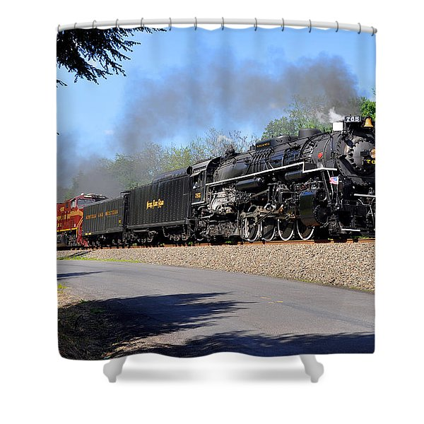 Powerful Nickel Plate Berkshire Shower Curtain