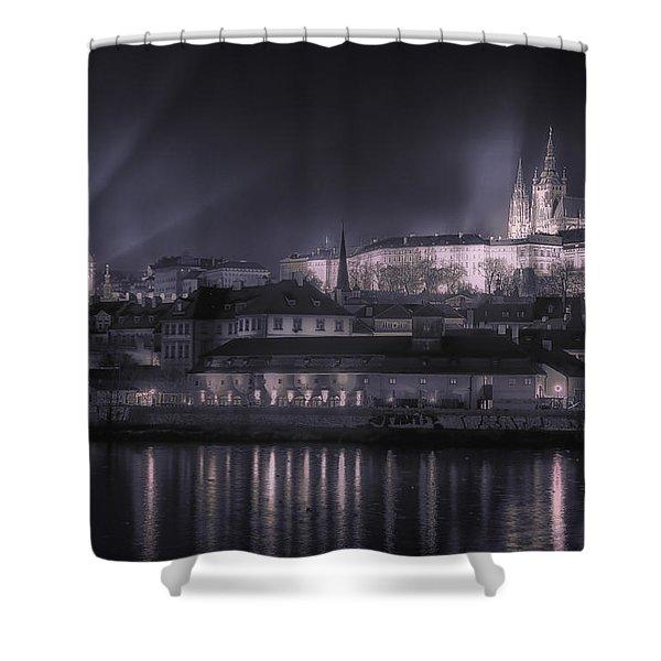 Prague Castle And St Nicholas Shower Curtain