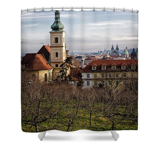 Prague View From The Gardens Shower Curtain