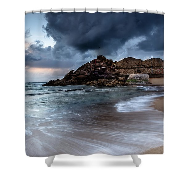 Praia Formosa Shower Curtain