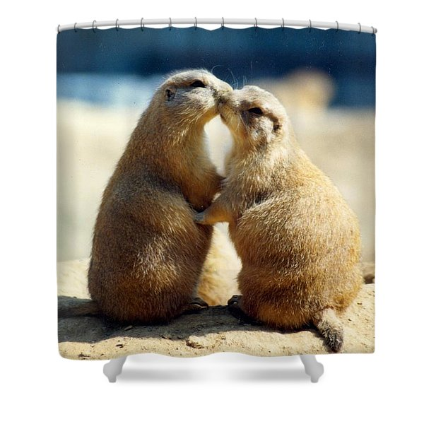 Prairie Dogs Kissing Shower Curtain