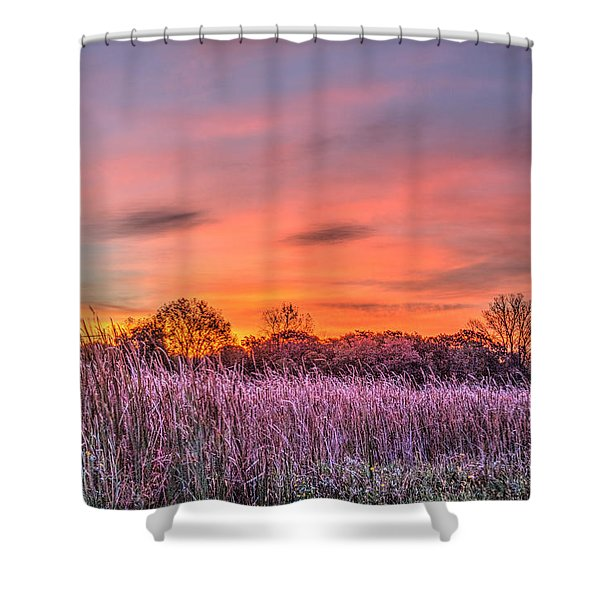 Moraine Hills State Park Moments Before Sunrise Shower Curtain
