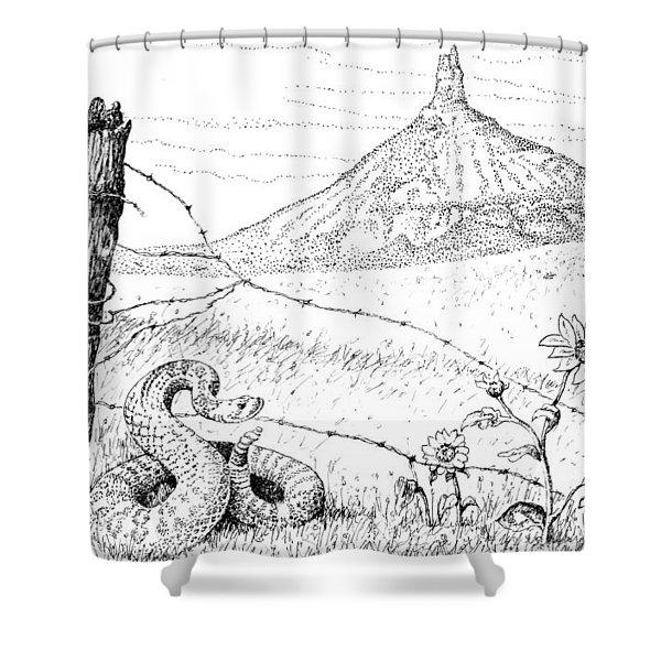 Prairie Rattler Shower Curtain