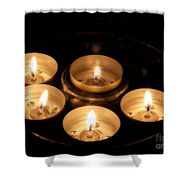 Prayer Candles In Notre Dame Shower Curtain