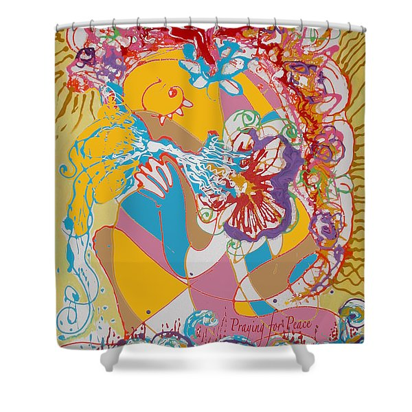 Praying For Peace Shower Curtain