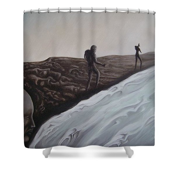 Premonition Shower Curtain