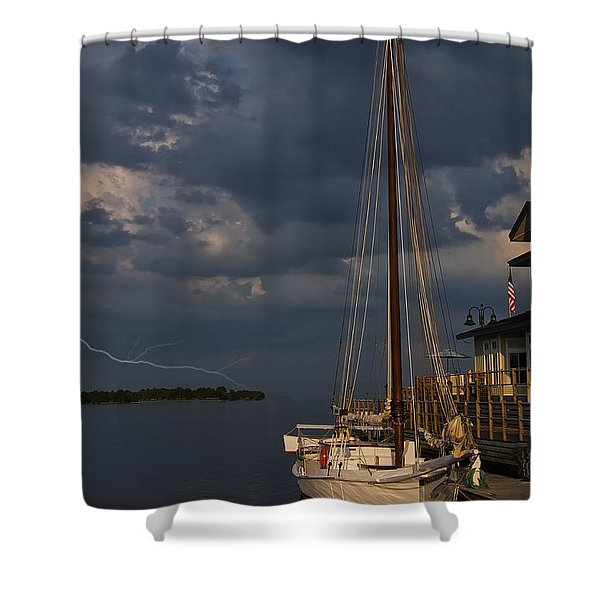 Preparing For The Storm Shower Curtain