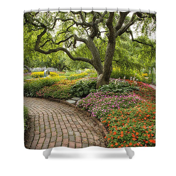 Shower Curtain featuring the photograph Prescott Park - Portsmouth New Hampshire by Erin Paul Donovan