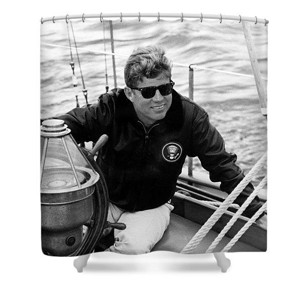 President John Kennedy Sailing Shower Curtain