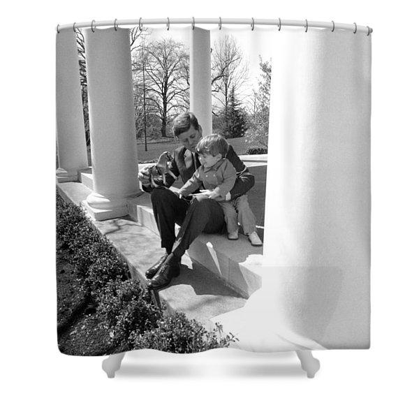 President Kennedy And John-john Shower Curtain