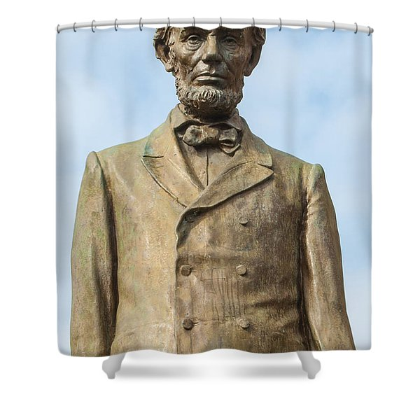President Lincoln Statue Shower Curtain