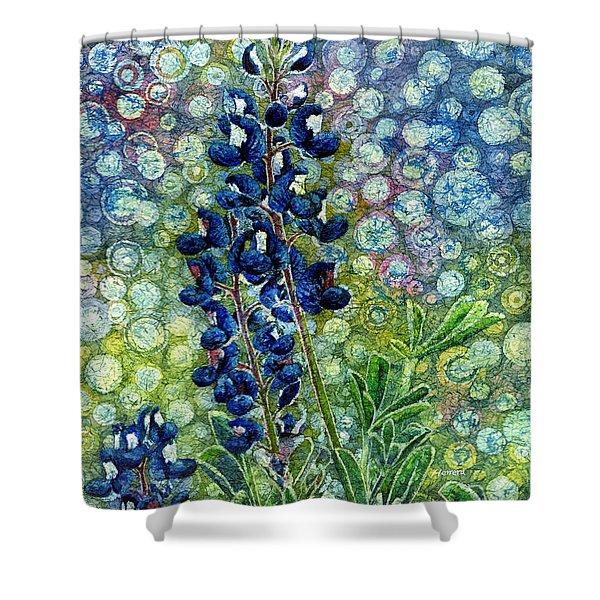 Pretty In Blue Shower Curtain