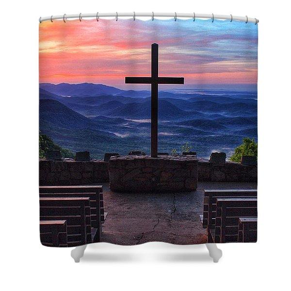 Pretty Place Chapel Sunrise Shower Curtain