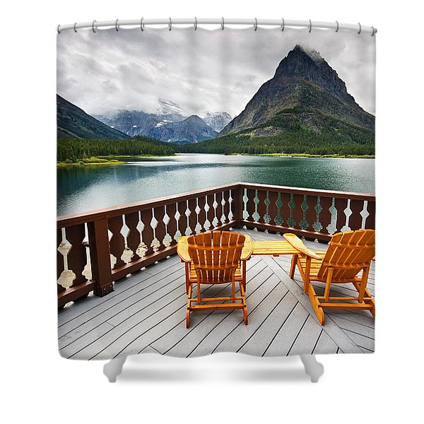 Priceless Glacier View Shower Curtain