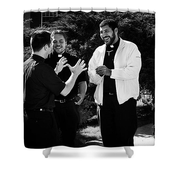 Priest Camaraderie Shower Curtain