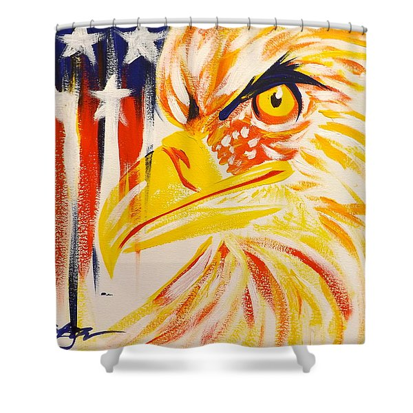 Primary Eagle Shower Curtain
