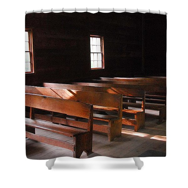 Primitive Church Shower Curtain